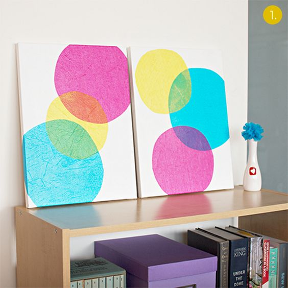 Roundup: 10 Affordable DIY Modern Wall Art Projects!