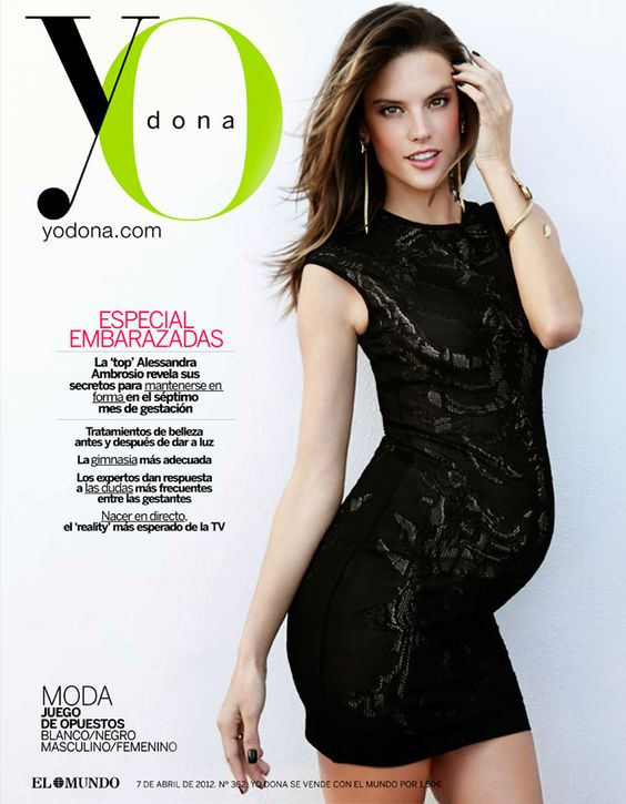 Alessandra Ambrosio is full prego on the cover of Yo Dona. I'm going to make @LindsayReedy do this! ha