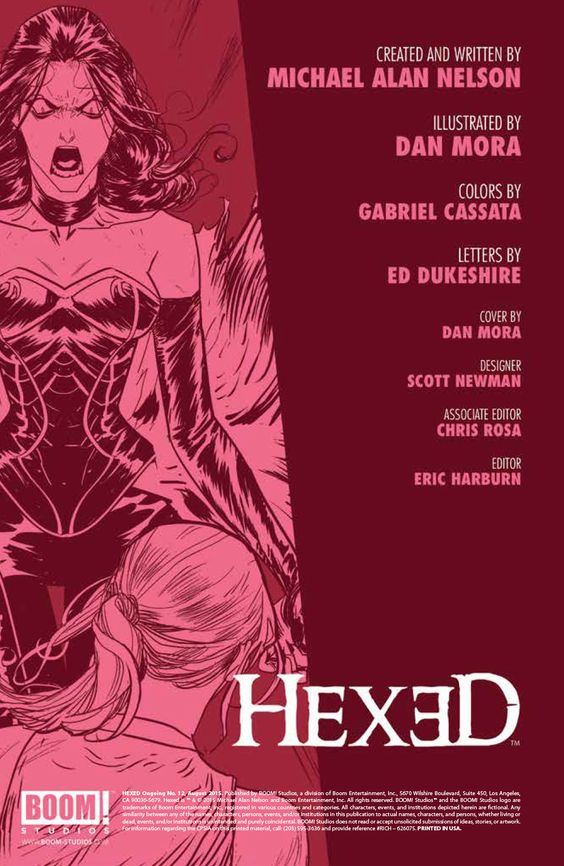 Preview: Hexed #12,   Hexed #12 Story: Michael Alan Nelson Art: Dan Mora Cover: Dan Mora Publisher: BOOM! Studios Publication Date: August 19th, 2015 Price: $3.99...,  #All-Comic #All-ComicPreviews #Boom!Studios #Comics #DanMora #Hexed #MichaelAlanNelson #Previews