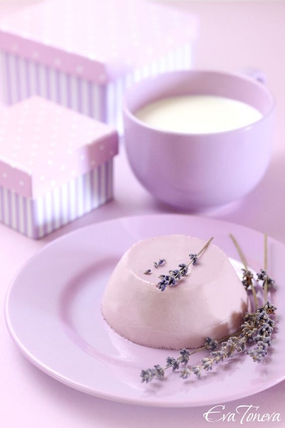 Lavender and Honey Panna Cotta www.tablescapesbydesign.com https://www.facebook.com/pages/Tablescapes-By-Design/129811416695
