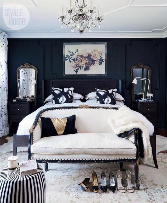 Black bedroom furniture | Schlafzimmer design ...