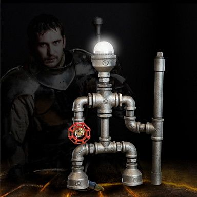 Robot Light Modern Industrial Cast Pipe Light Pipe Desk Lamp Birthday Gifts Hot! 4158966 2016 – $82.99