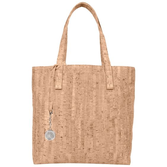 The Svala vegan Simma Tote bag is handcrafted from natural cork and lined with organic cotton and recycled plastic bottles.