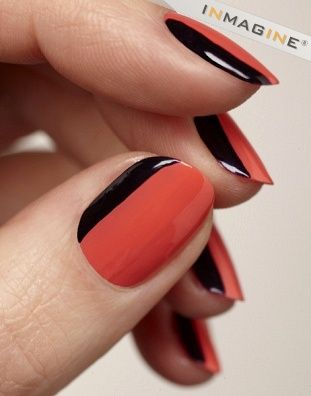 painted finger nails rock