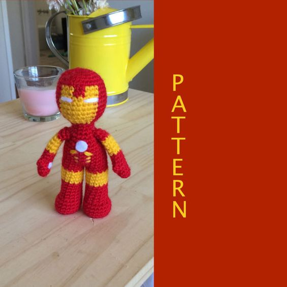Iron Man Amigurumi Free Pattern : Crochet doll pattern, Iron man and Patterns on Pinterest