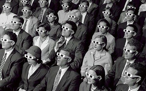 3D Glasses vintage ad: