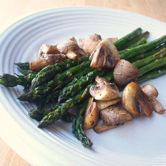 "Roasted Asparagus and Mushrooms | ""Simple, easy, delicious, and makes ..."
