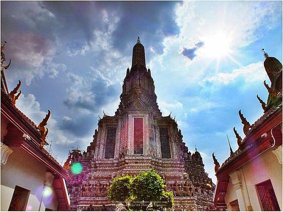 thailandhere: วัดอรุณ หรือ วัดแจ้ง กทม ตอน1 Wat [temple] Arun at...