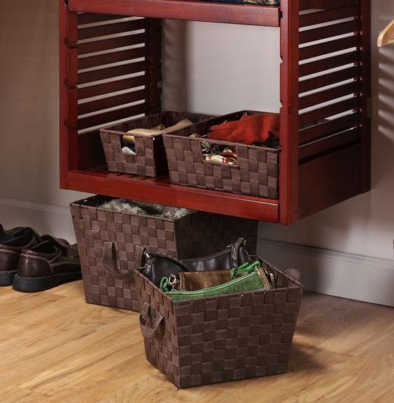 Mud Room Storage - repurpose old shutters and make into shelves