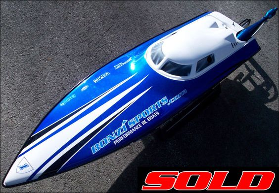 Black With Custom Blue Flames Custom RC Boats Pinterest Engine - Custom vinyl decals for rc boatsrc boat archives bonzi sports rc gas boats and accessories