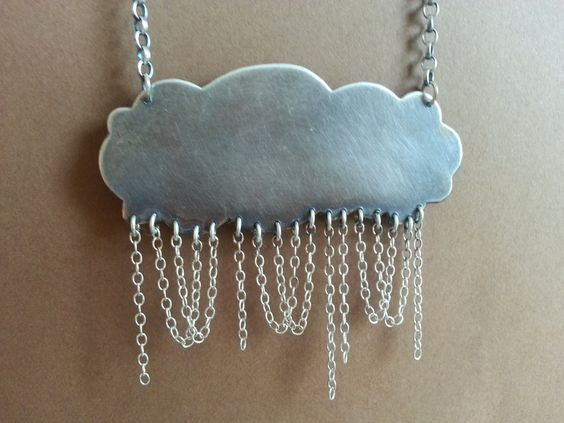 Silver Storm Cloud Necklace by 11oclock on Etsy, £68.00