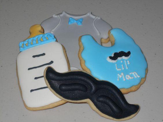 Lil' Man Baby Sugar Cookies - 1 Dozen Cookies by KimsCountryCorner on Etsy