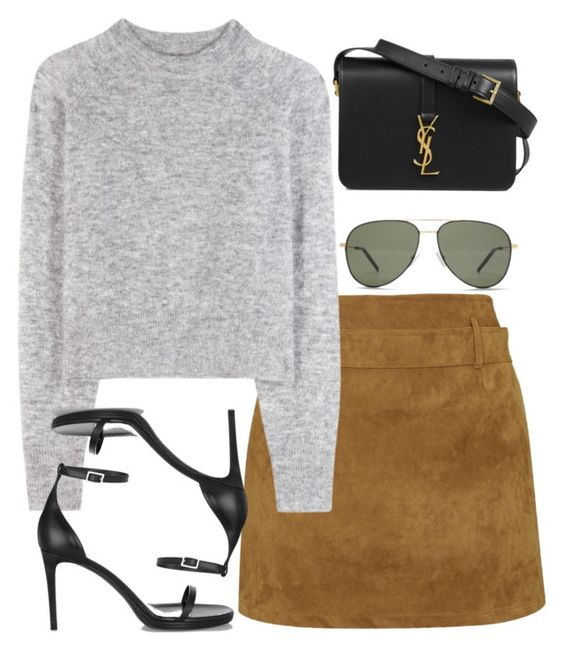"""Sin título #1517"" by namelessale ❤ liked on Polyvore featuring Motel, Wood Wood and Yves Saint Laurent"