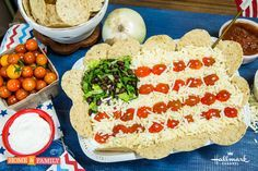 A perfect dish for you to bring over to a 4th of July party! This Stars and Stripes Layered Dip that is also one of Matt Rogers favorite appetizers! Catch every great recipe and more by watching Home & Family weekdays at 10a/9c on Hallmark Channel!