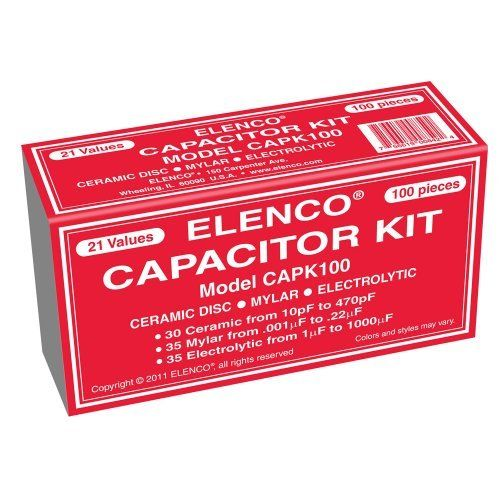 Elenco 100 Capacitor Component Kit By Elenco 13 54 From The Manufacturer 100 Capacitor Kit Ceramic Disc M Capacitors Kit Model Building Kits