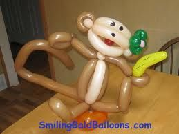 monkey balloon - face is ok, like the banana but not needed.