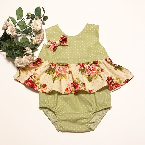 A personal favorite from my Etsy shop https://www.etsy.com/listing/528618398/baby-ruffled-topbaby-bloomersbow