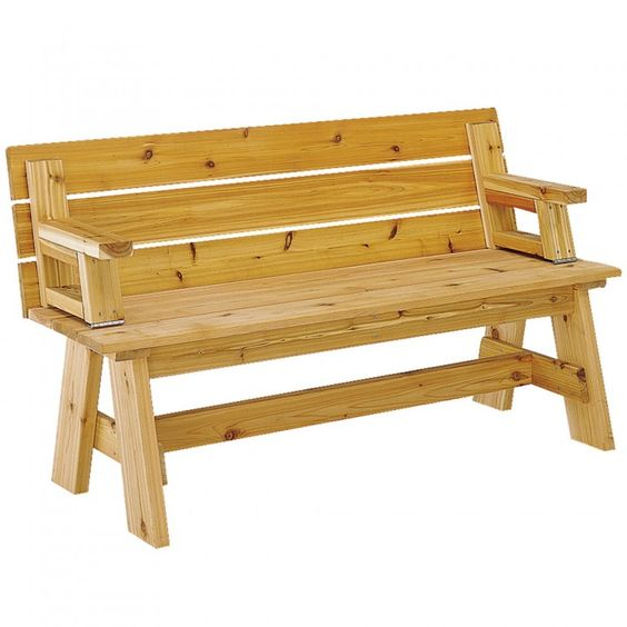 Picnic table bench combo plan picnic table bench for Folding table woodworking plans