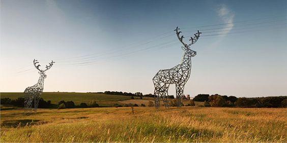 deer-shaped pylons concept