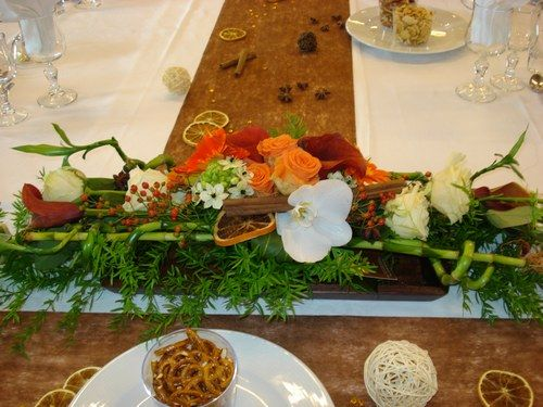 ivoire-chocolat) - Composition florale de la table dhonneur  ma deco ...