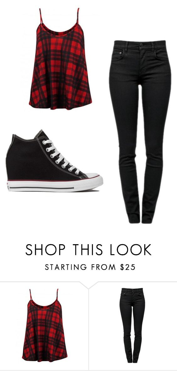 """Untitled #18"" by monkeymakell ❤ liked on Polyvore featuring So in Fashion, Proenza Schouler and Converse"