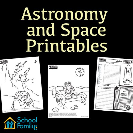 Free Astronomy and Space printables from SchoolFamily.com.