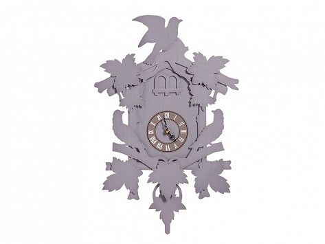 This large modern cuckoo clock, discovered by The Grommet, gives the classic…
