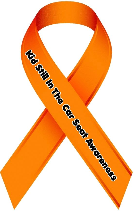 Don't Forget Your Kid In The Back Seat Awareness Ribbon