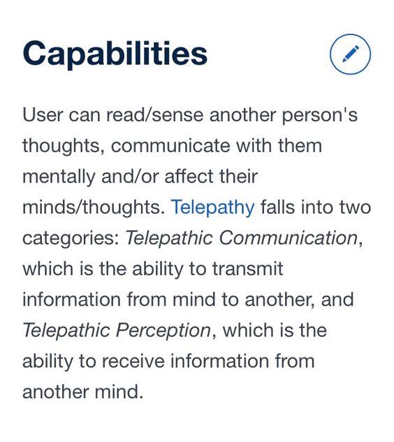 Telepathy: