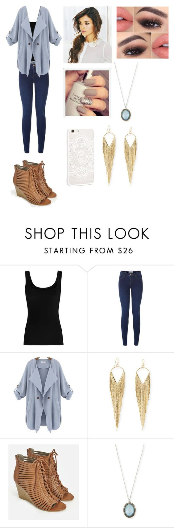 """Untitled #69"" by denise10198 ❤ liked on Polyvore featuring Twenty, New Look, Jules Smith, JustFab, Armenta and JFR"