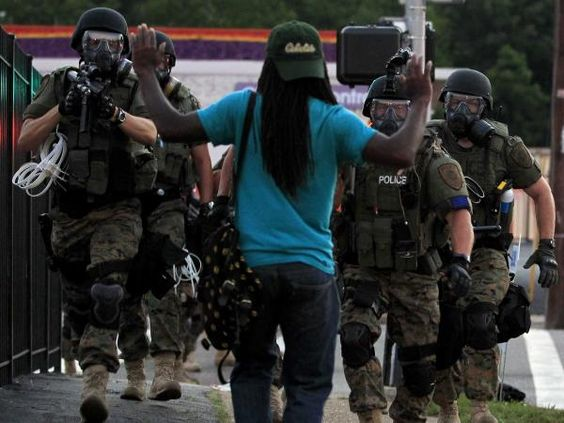 The American people are the new insurgents. #ferguson #PoliceState pic.twitter.com/iwQEwOd1gK
