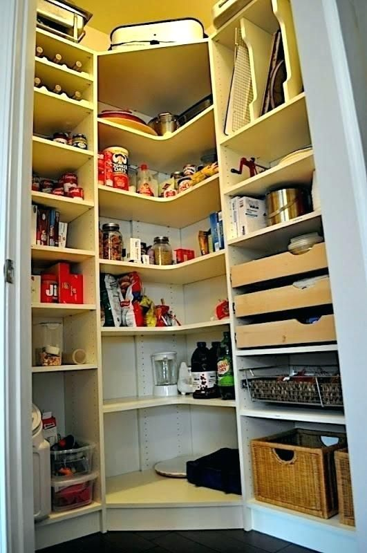 Small Pantry Shelving Ideas Corner Pantry Storage Small Pantry