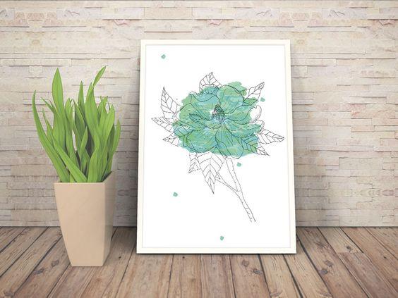 Coleção Flores de Aquarela - Sarah Stehling