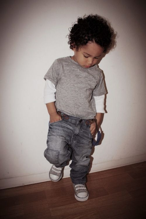 Children With Swag make some jeans with colored suspenders attached