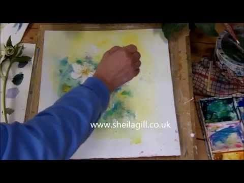 How to Paint White Flowers in Watercolour by Sheila Gill - Part 1