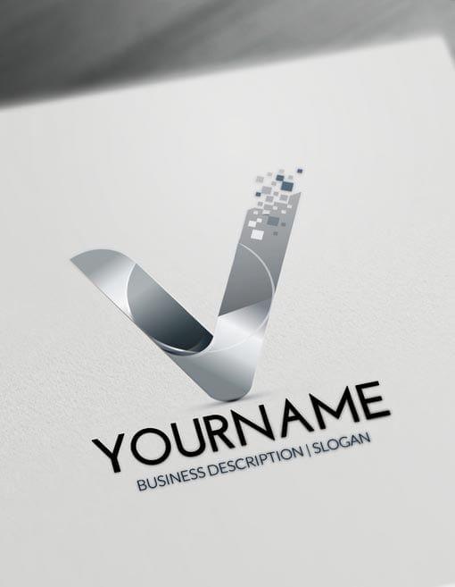 Free Letters Logo Maker Modern V Logo Creator