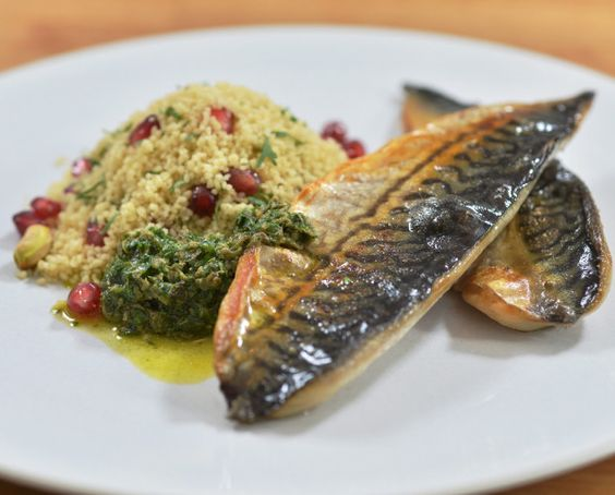 ... served with pomegranate, lime and pistachio couscous by Rachel Allen