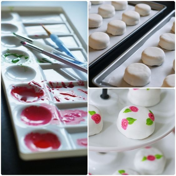 """hand painted """"petite fours"""""""