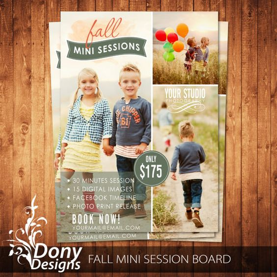 Buy 1 get 1 free fall mini session photography marketing for Free mini session template