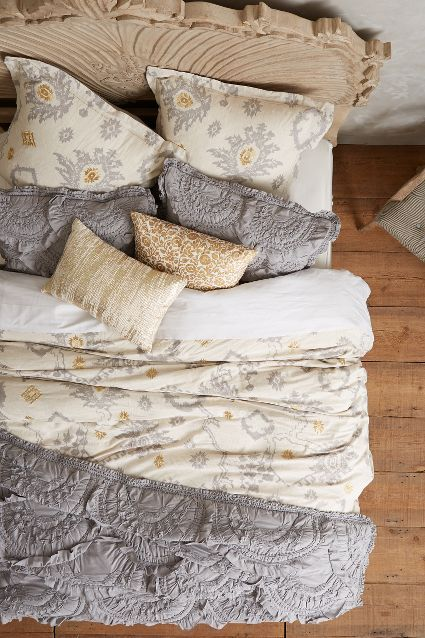 that gold detail tho *drooling* | Copacati Duvet - anthropologie.com