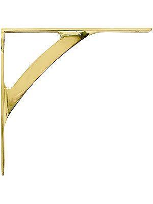 """$9.89 Decorative Shelf Brackets. 5"""" x 5 1/4"""" Polished Brass Shelf Bracket"""