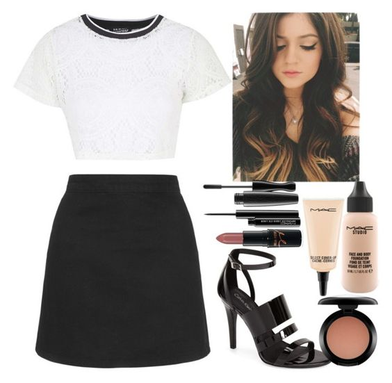"""""""Untitled #5407"""" by kimboloveniallhoran ❤ liked on Polyvore featuring Topshop, Calvin Klein, MAC Cosmetics, women's clothing, women, female, woman, misses and juniors"""