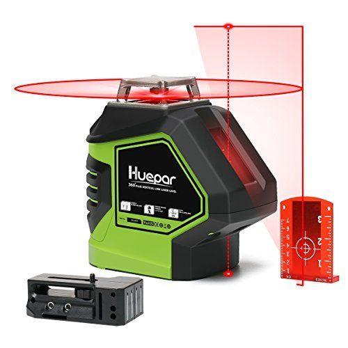 Huepar Self Leveling Laser Level 360 Red Cross Line Laser Levels Red Cross Laser