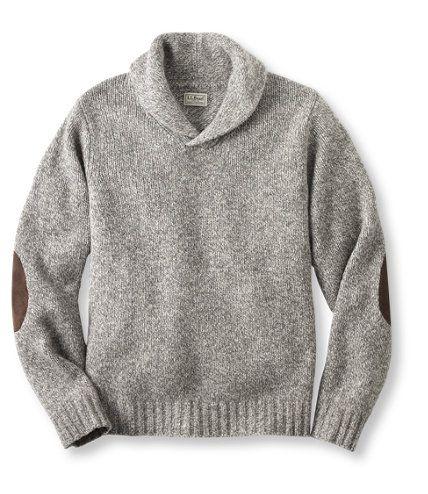 Ragg Wool Mens Sweater Sweater Grey