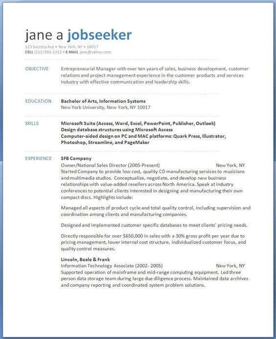 business management resume Creative Resume Design Templates Word - national sales director resume