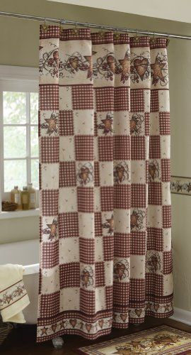 Collections Etc Primitive Hearts And Stars Country Shower Curtain Collections Http Www