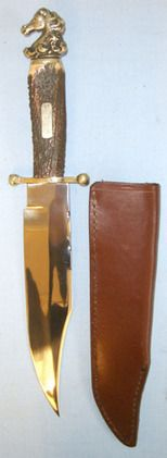 J.E. Middleton & Sons, Mustang Pommel Bowie Stag Horn Handle, Stalli  Blades