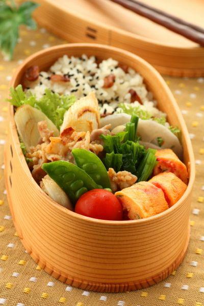 豚こまと葱の塩麹炒め弁当 : Linmal's Kitchen ~金沢の旬の味と毎日のお弁当