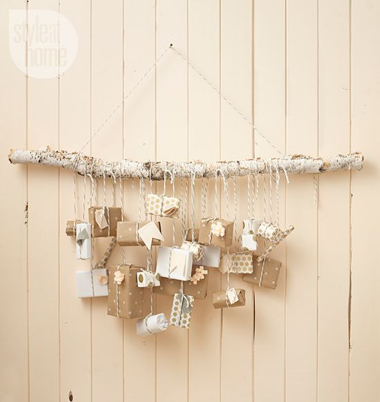 DIY project: Birch branch advent calendar - Style At Home