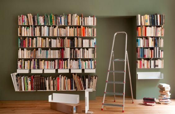 Étagère murale design TEEbooks #etagere #étagèredesign #design #invisible #etagerelivre #livre #bibliothèque
